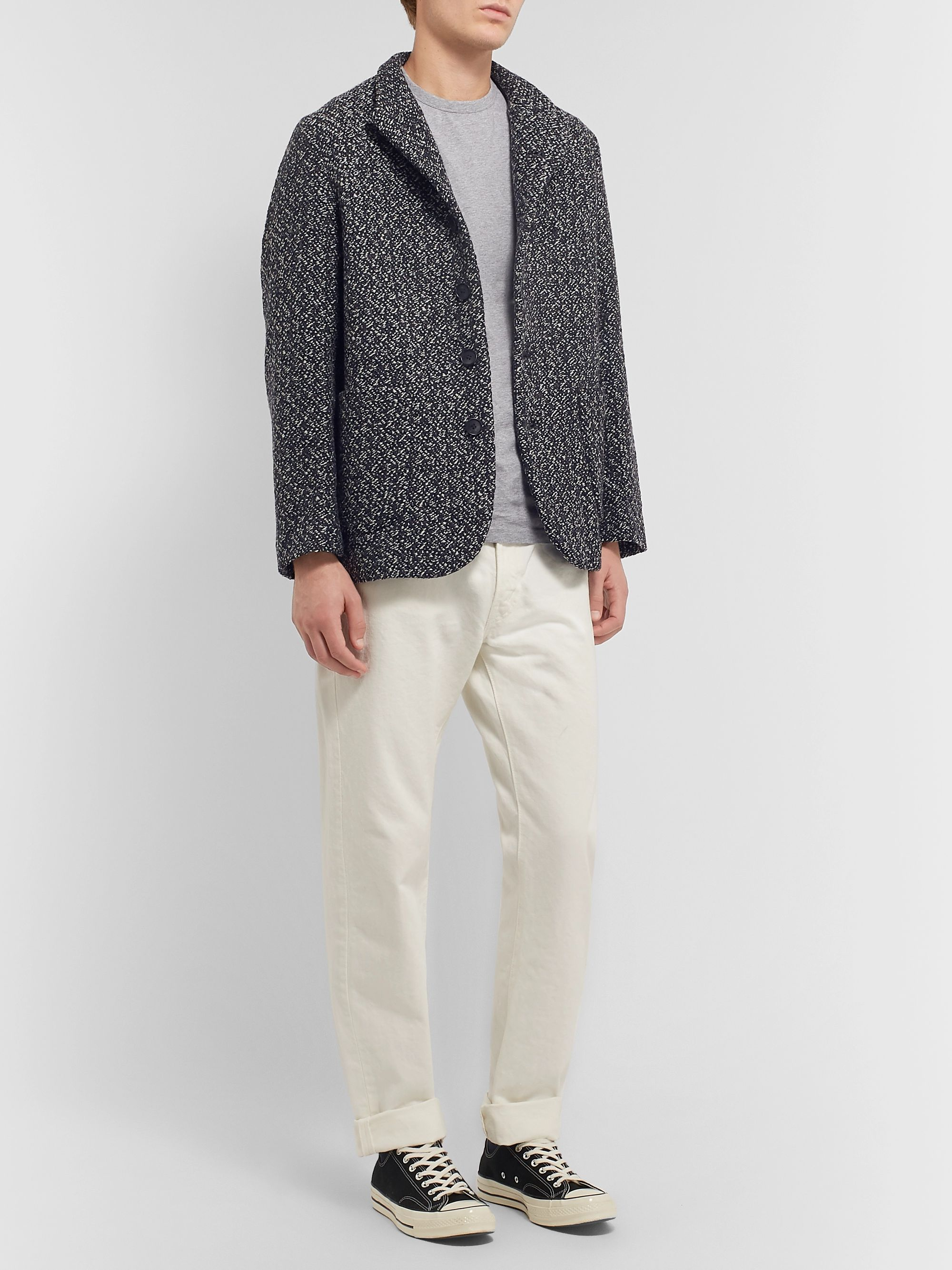 Blue Blue Japan Yuki Fubuki Wool-Tweed Blazer