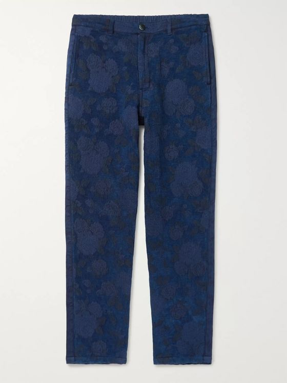 Blue Blue Japan Indigo-Dyed Cotton-Blend Trousers