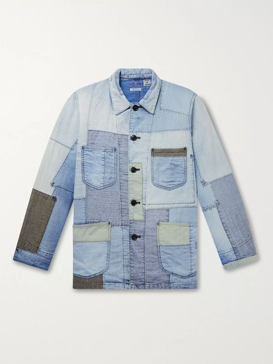 Blue Blue Japan Yuki Fubuki Embroidered Patchwork Denim Jacket
