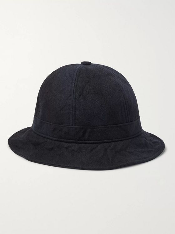 Blue Blue Japan Wool-Blend Flannel Bucket Hat