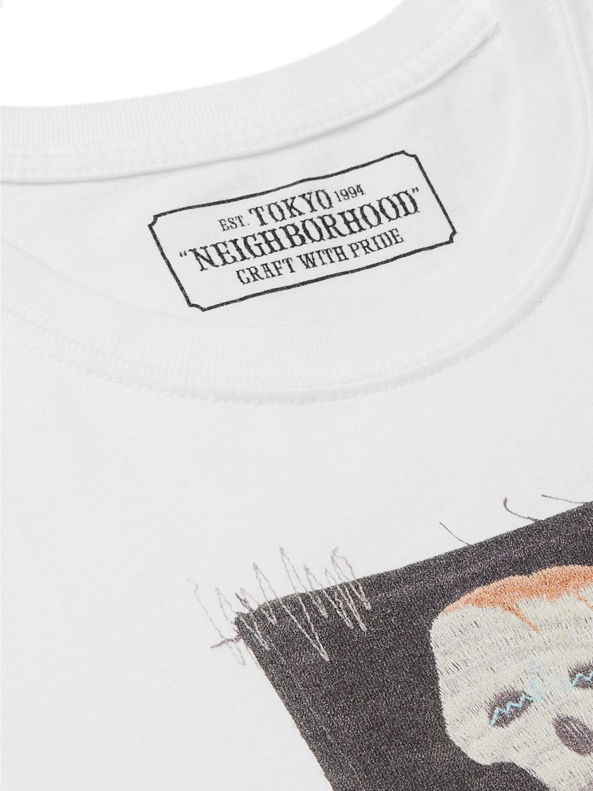 Neighborhood Appliquéd Cotton-Jersey T-Shirt