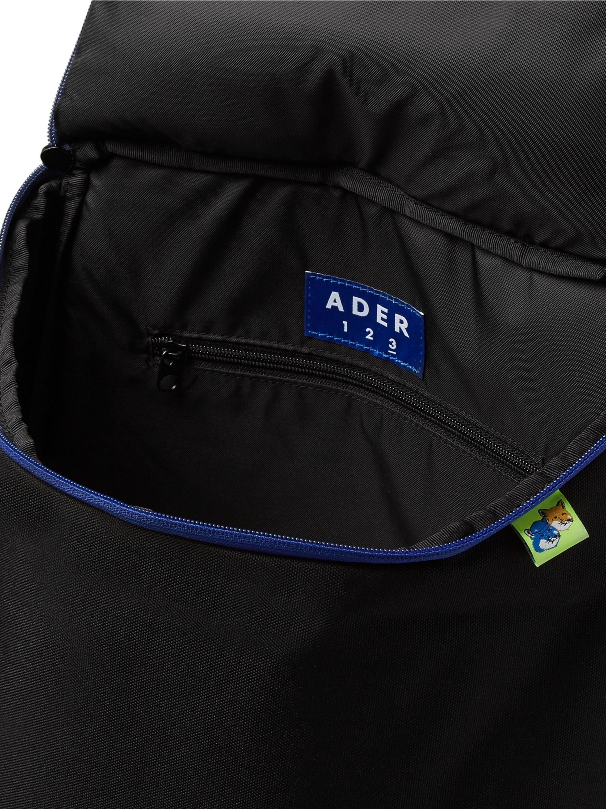 Maison Kitsuné + ADER error Logo-Embroidered Printed Canvas Backpack