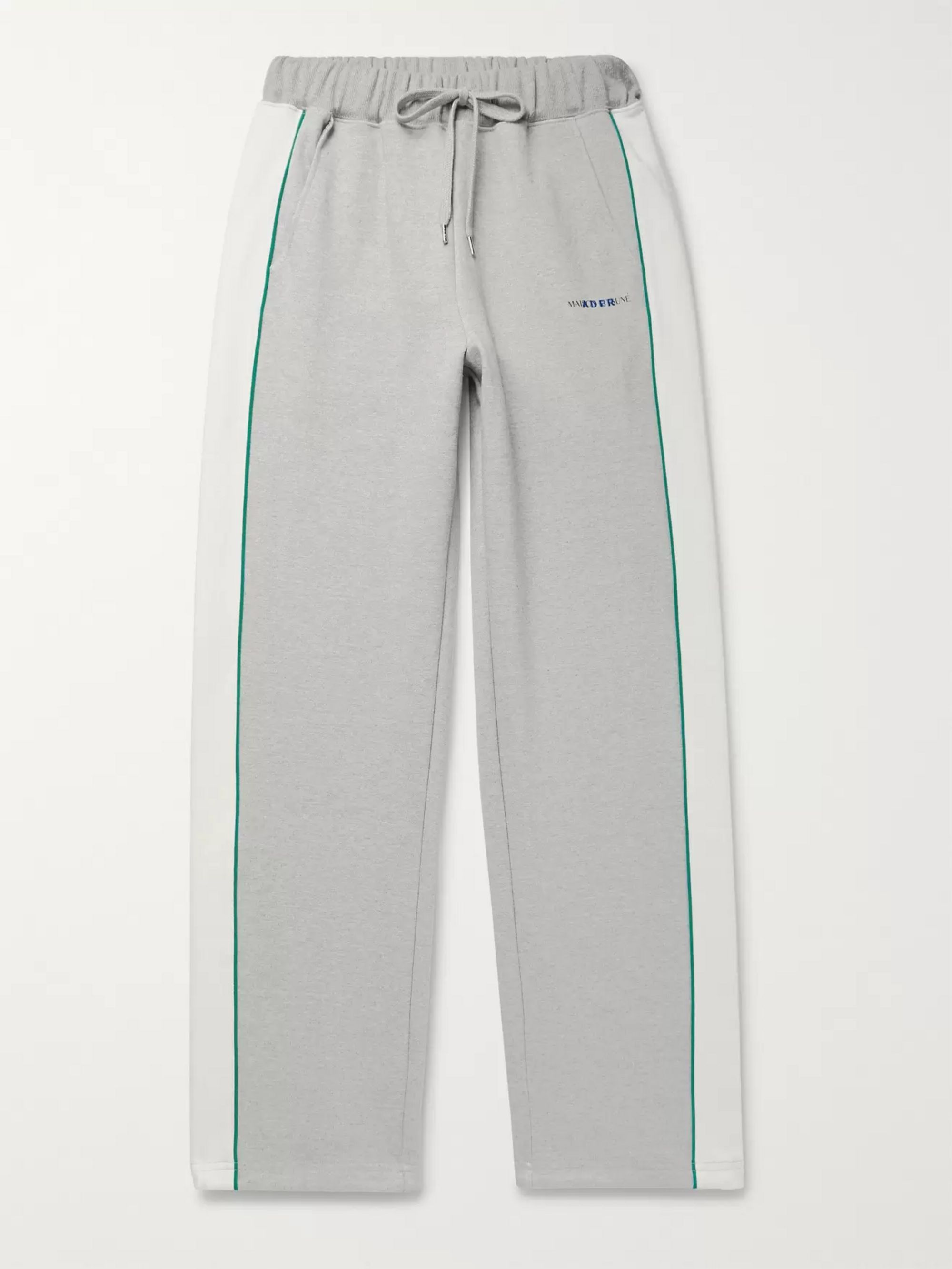 Maison Kitsuné + ADER error Piped Cotton-Jersey Sweatpants