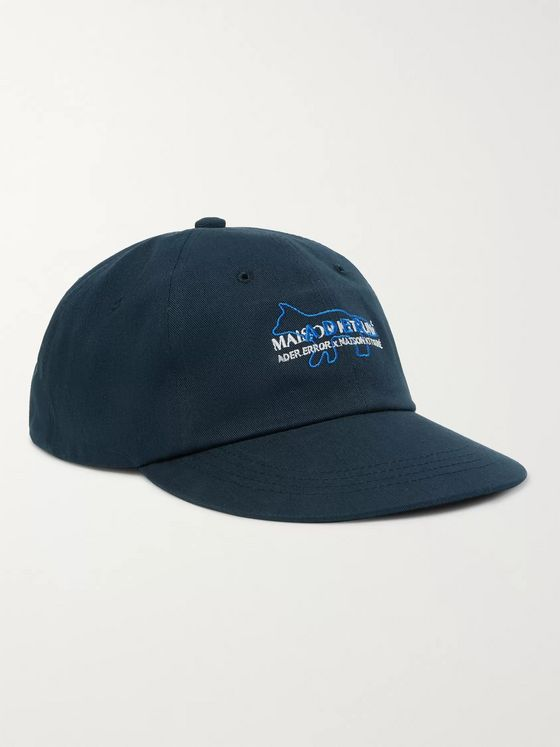 Maison Kitsuné + ADER Error Logo-Embroidered Cotton-Twill Baseball Cap