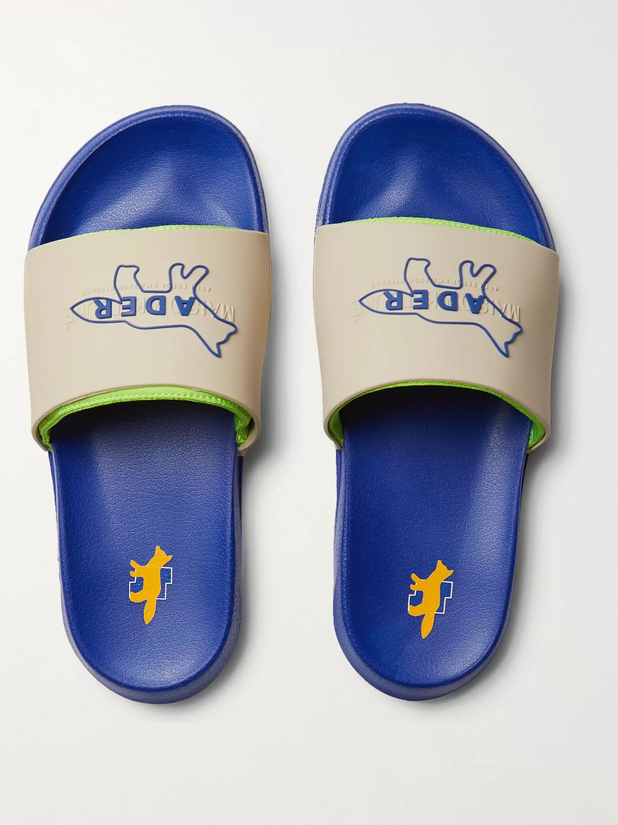Maison Kitsuné + ADER error Logo-Detailed Rubber Slides