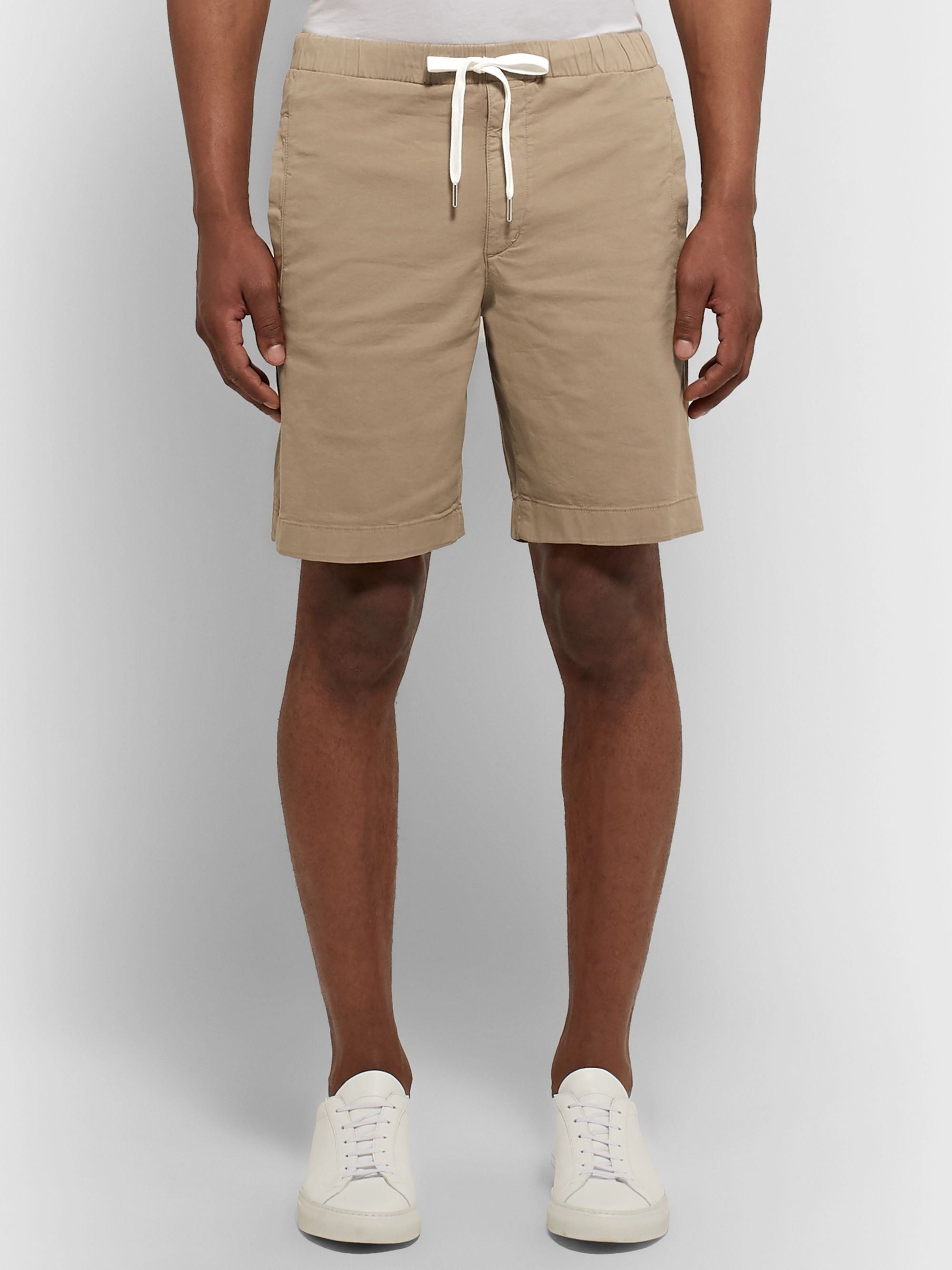 Theory Nevins Cotton-Blend Twill Drawstring Shorts