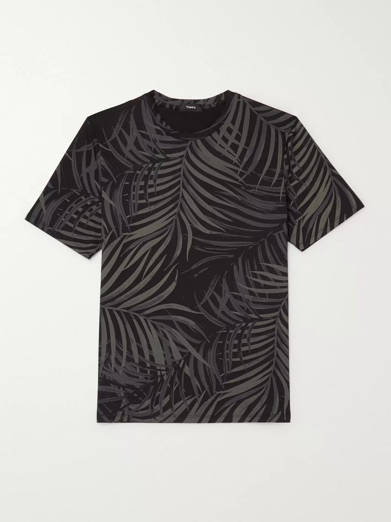 Theory Saygo Slim-Fit Printed Pima Cotton-Jersey T-Shirt