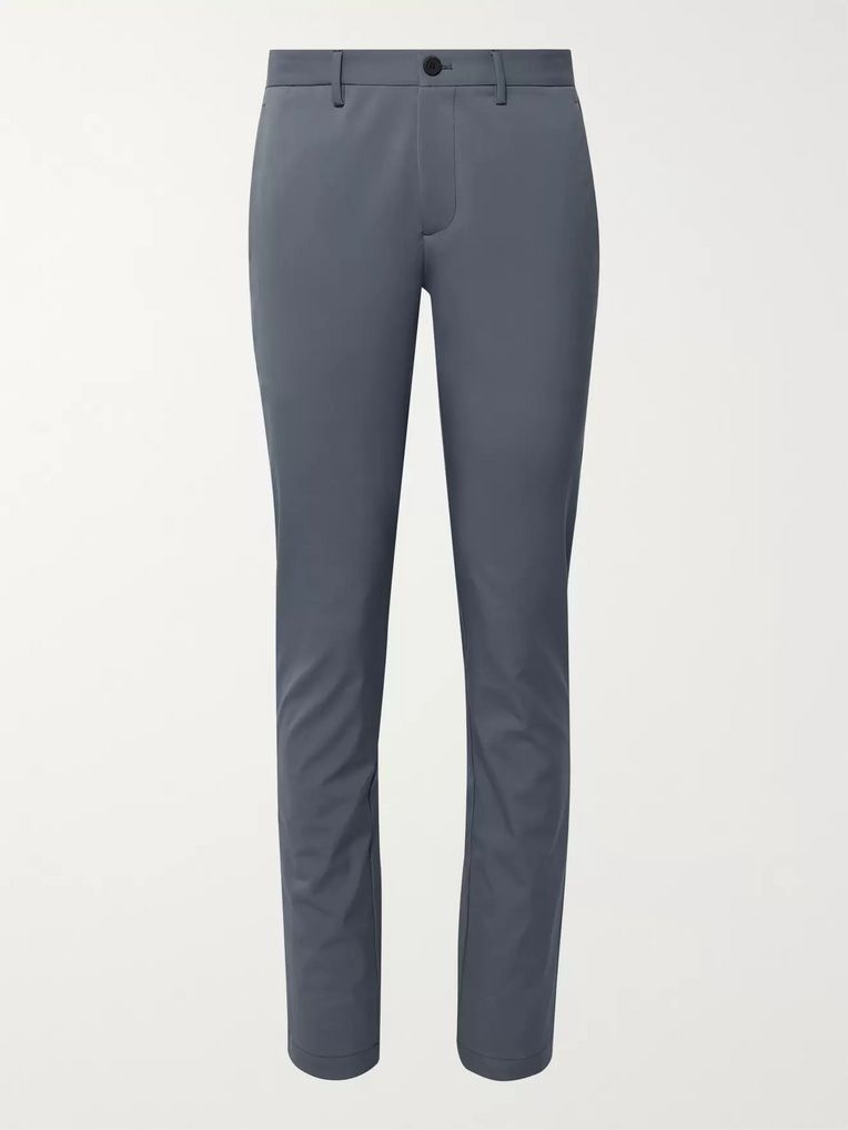Theory Storm-Blue Neoteric Zaine Slim-Fit Stretch-Twill Trousers