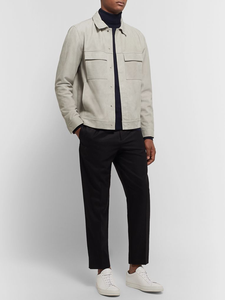Theory Jamie Slim-Fit Suede Jacket