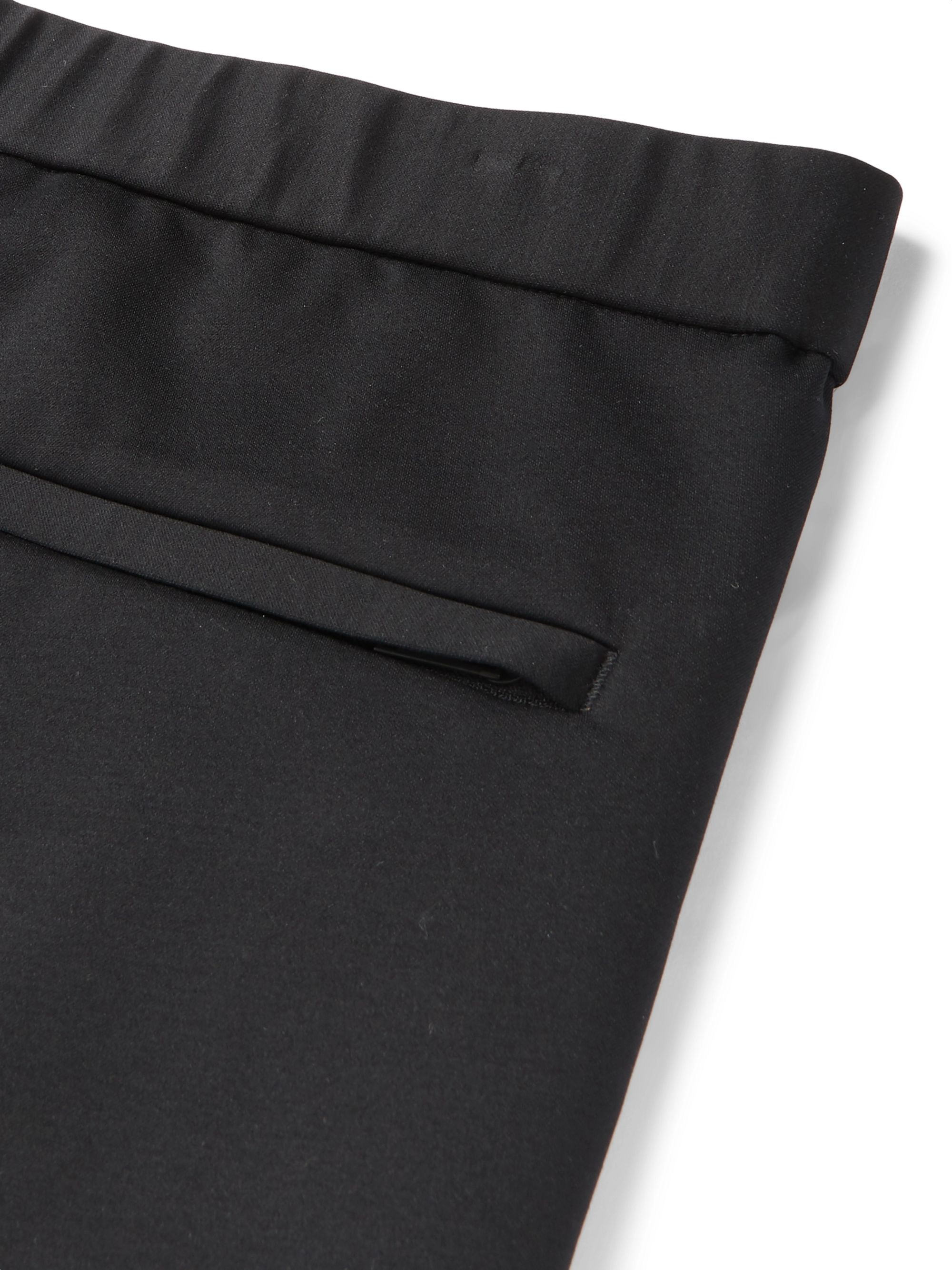 Theory Black Terrance Tapered Ponte Trousers