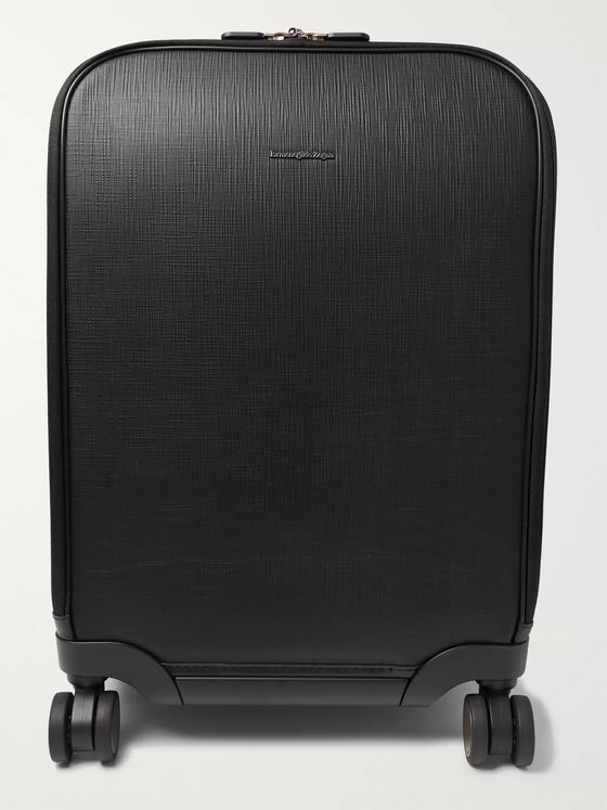 Ermenegildo Zegna Leather-Trimmed Polycarbonate Carry-On Suitcase