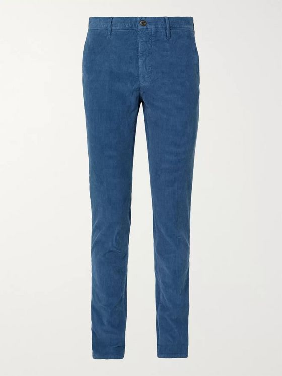 Incotex Slim-Fit Cotton-Blend Corduroy Trousers