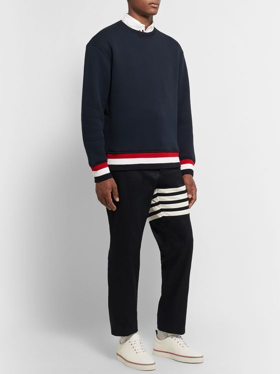 Thom Browne Loopback Cotton-Blend Jersey Sweatshirt