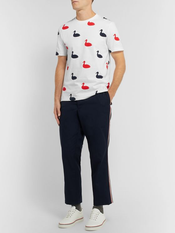 Thom Browne Printed Cotton-Jersey T-Shirt