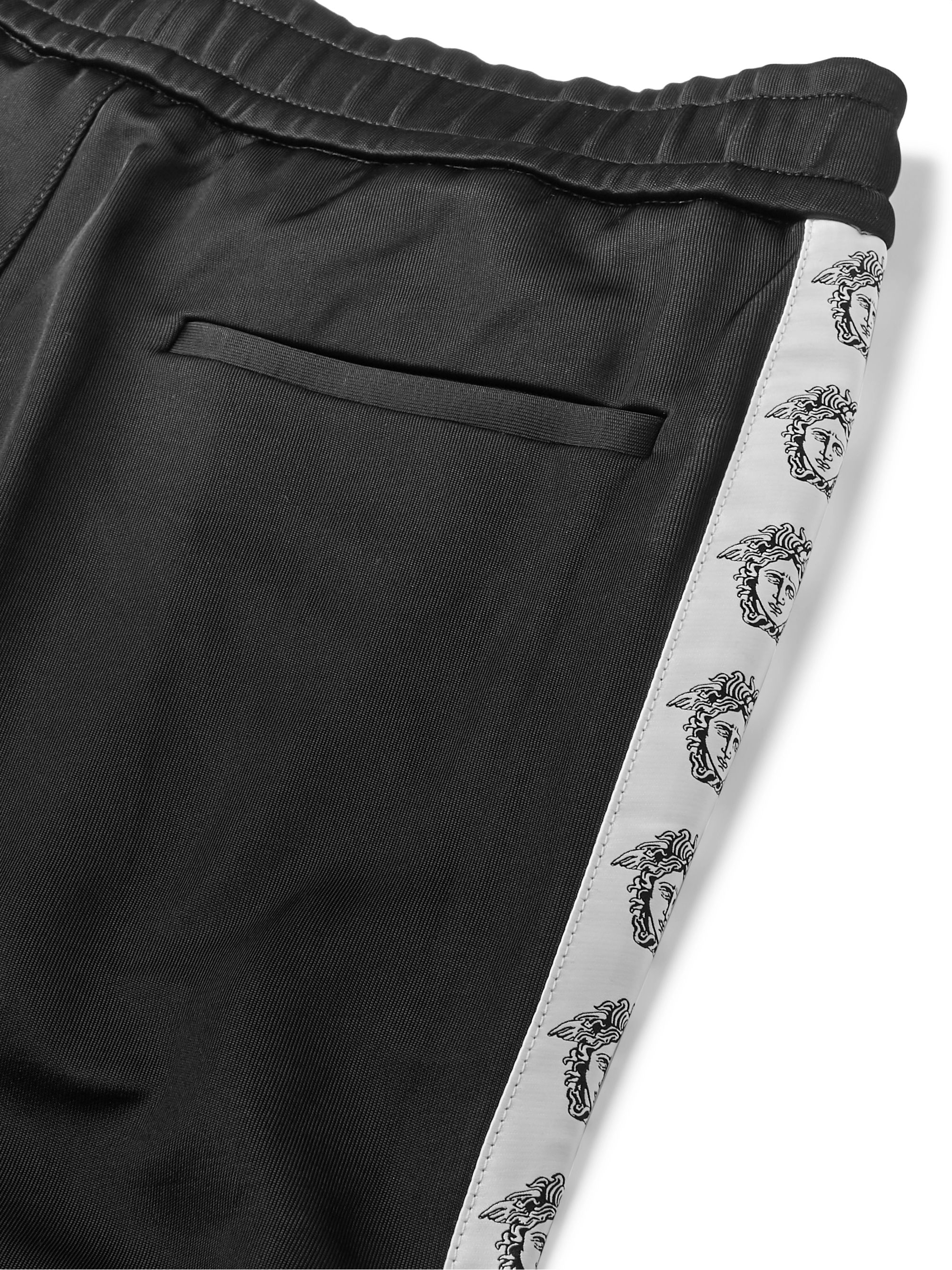 Versace Logo-Detailed Tech-Jersey Track Pants