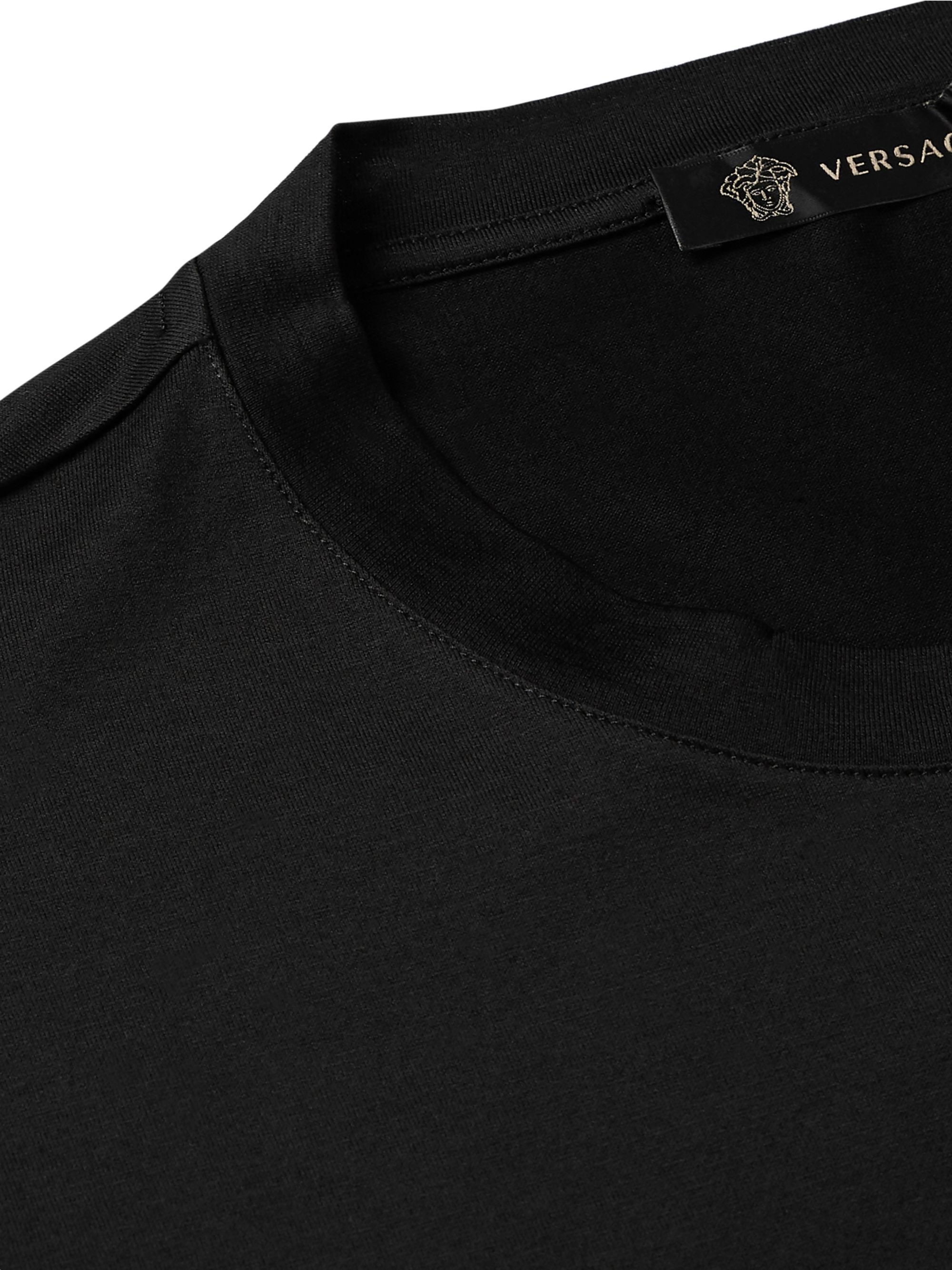 Versace Logo-Embellished Cotton-Jersey T-Shirt