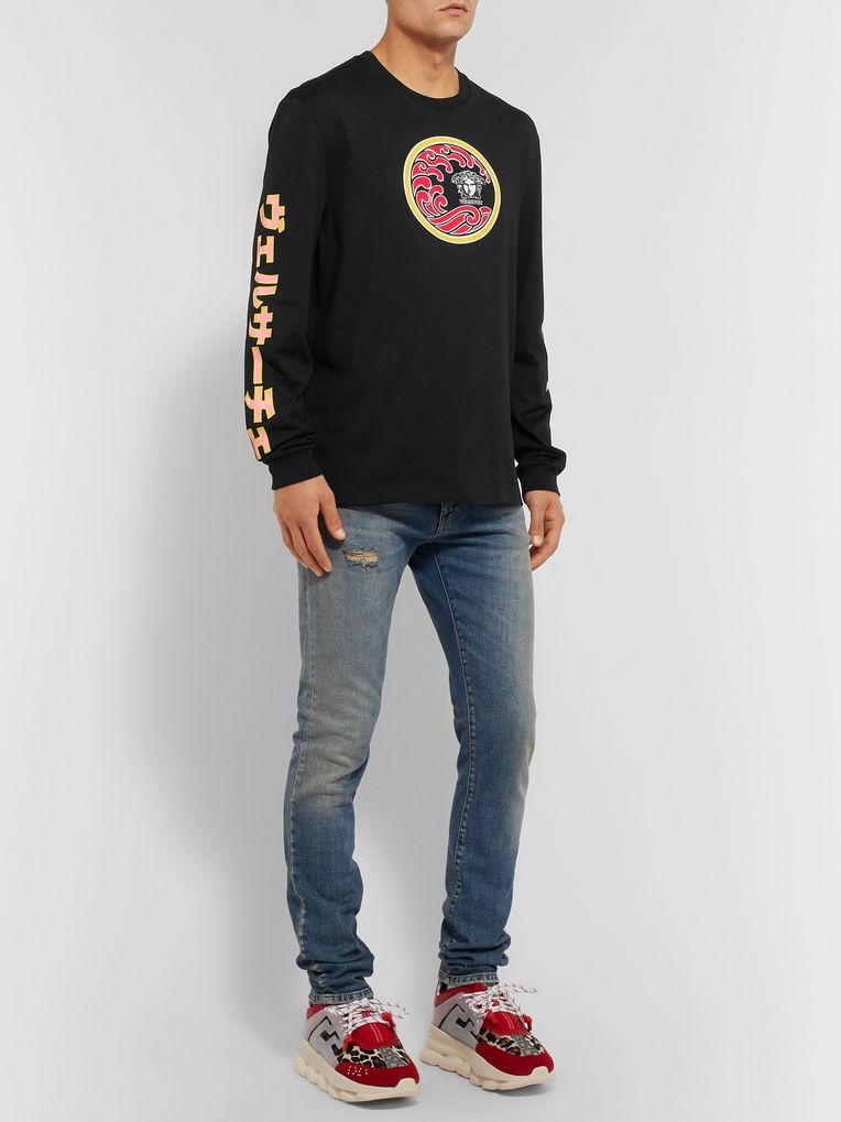 Versace Printed Cotton-Jersey T-Shirt
