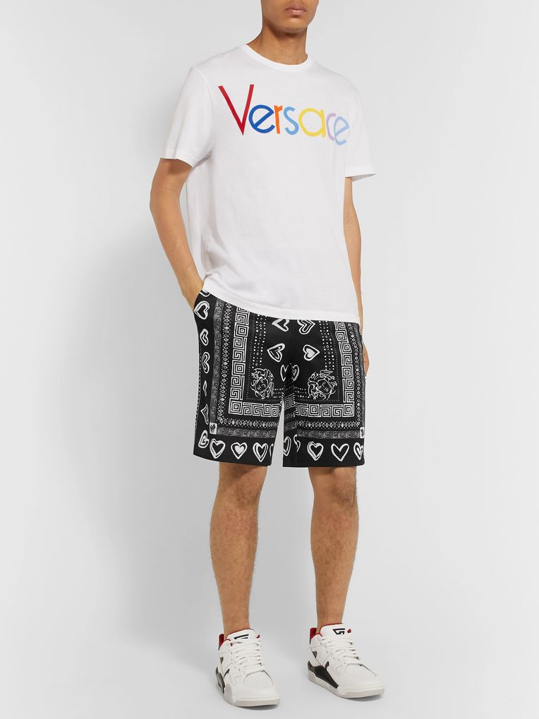 Versace Printed Tech-Jersey Shorts