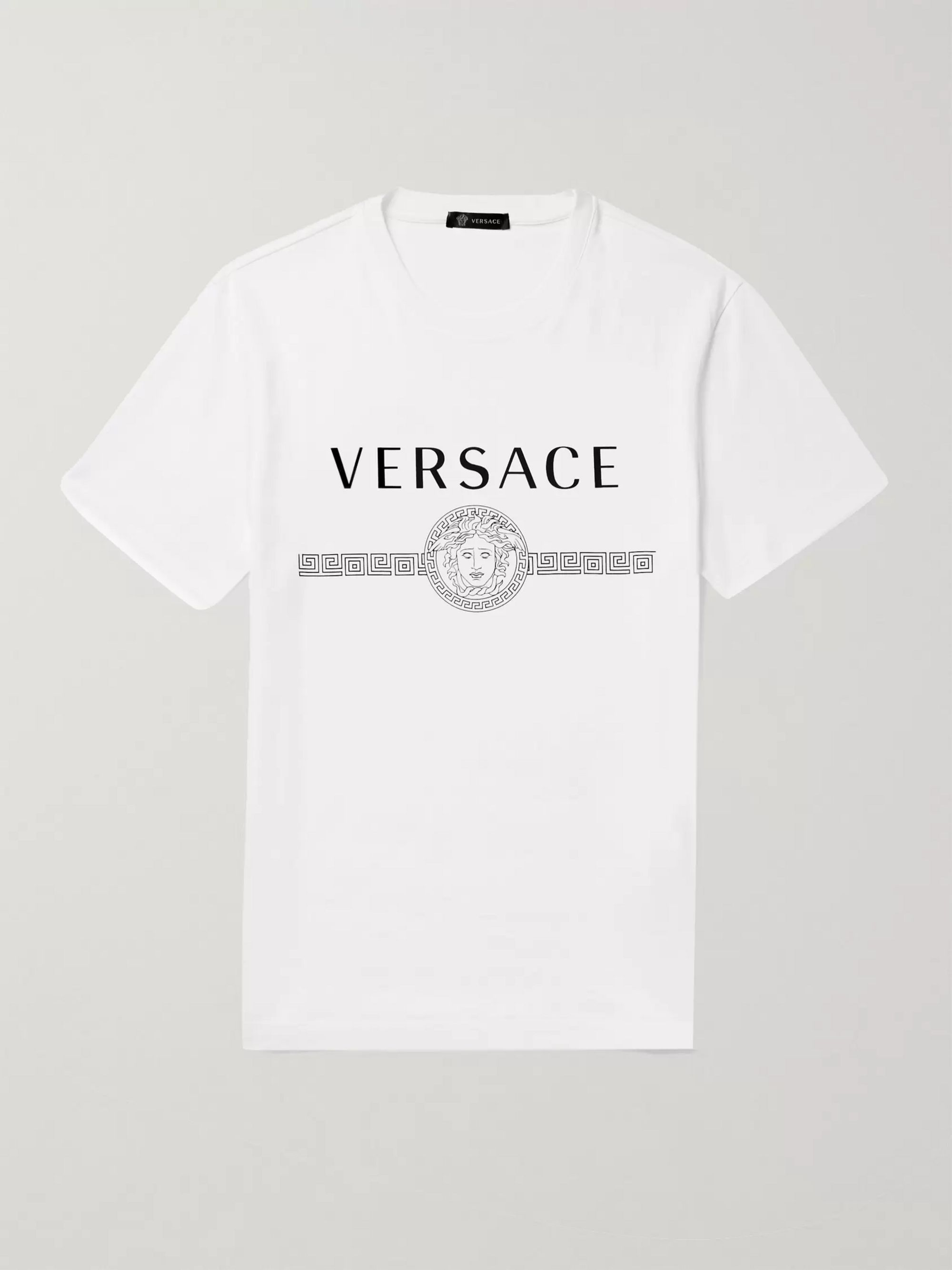 Versace Slim-Fit Logo-Print Cotton-Jersey T-Shirt