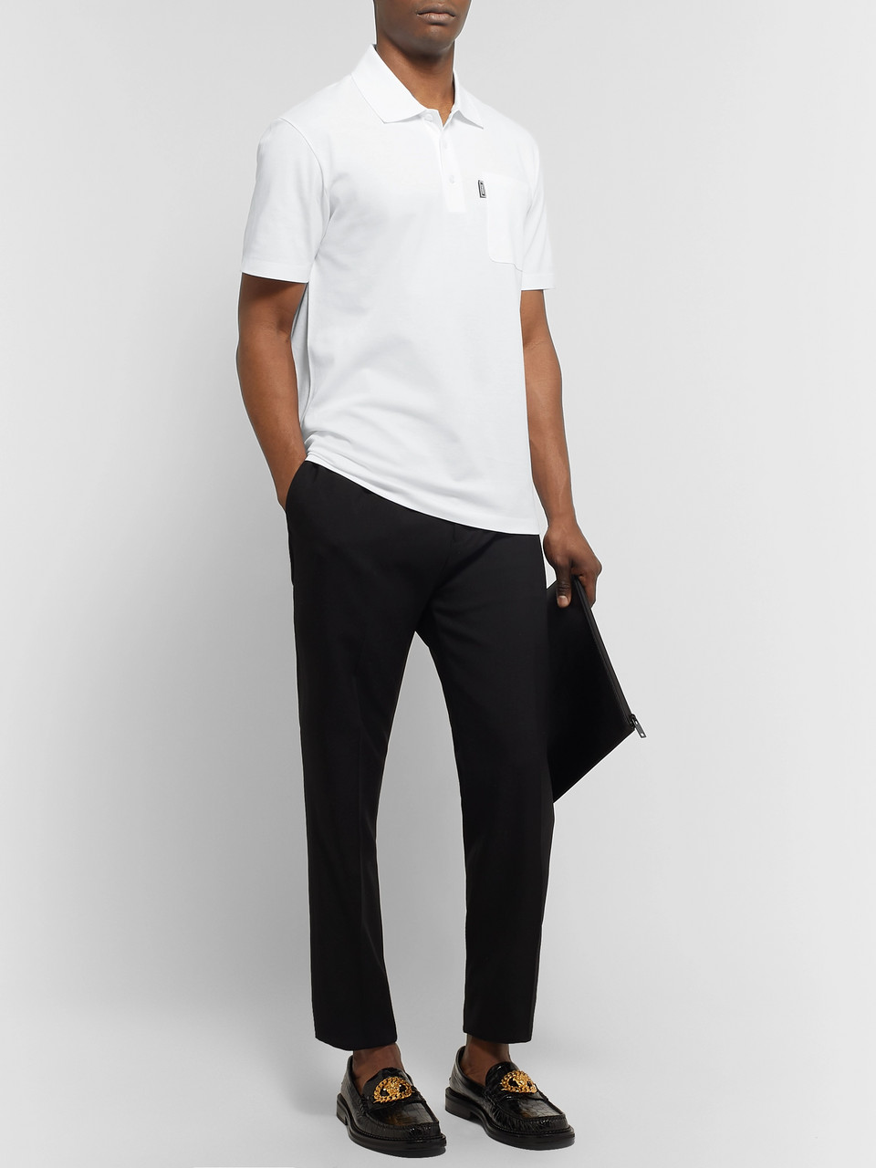 Versace Cotton-Piqué Polo Shirt