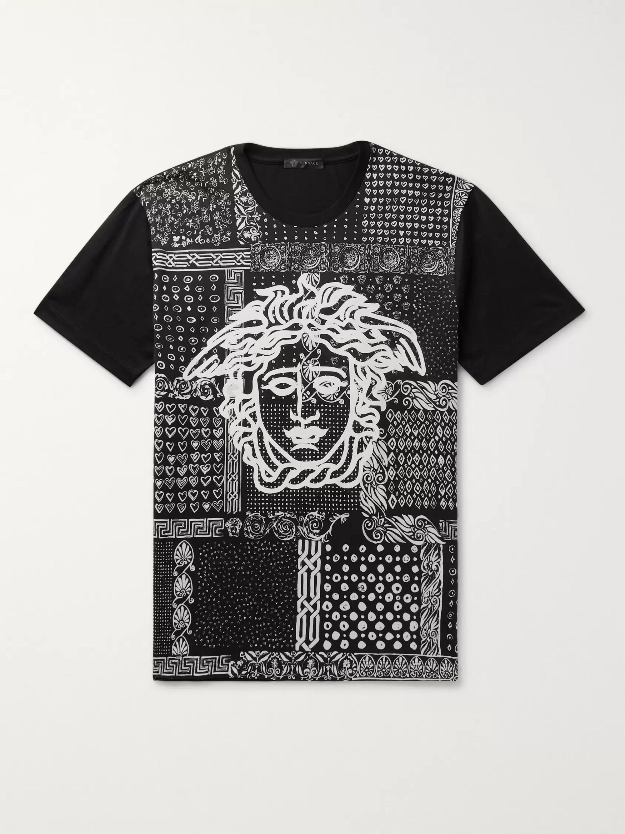 Versace Slim-Fit Printed Cotton-Jersey T-Shirt