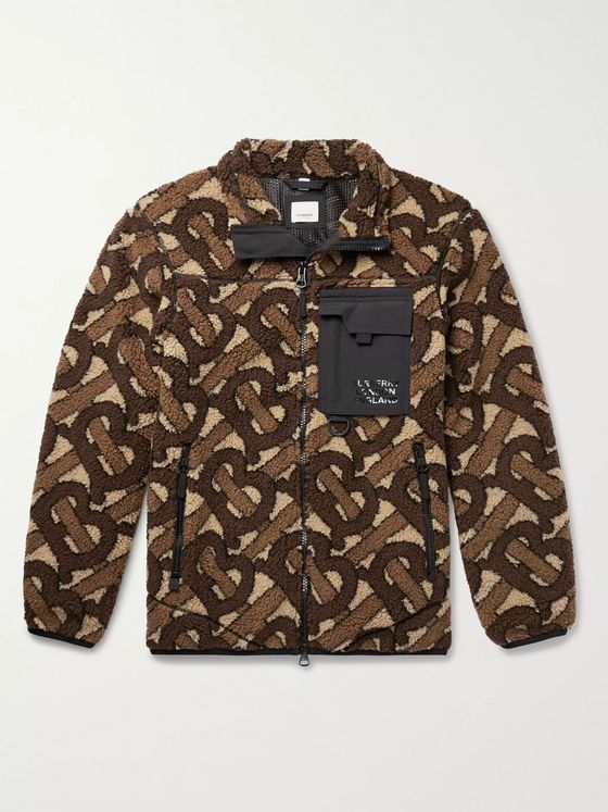 Burberry Logo-Jacquard Fleece Jacket