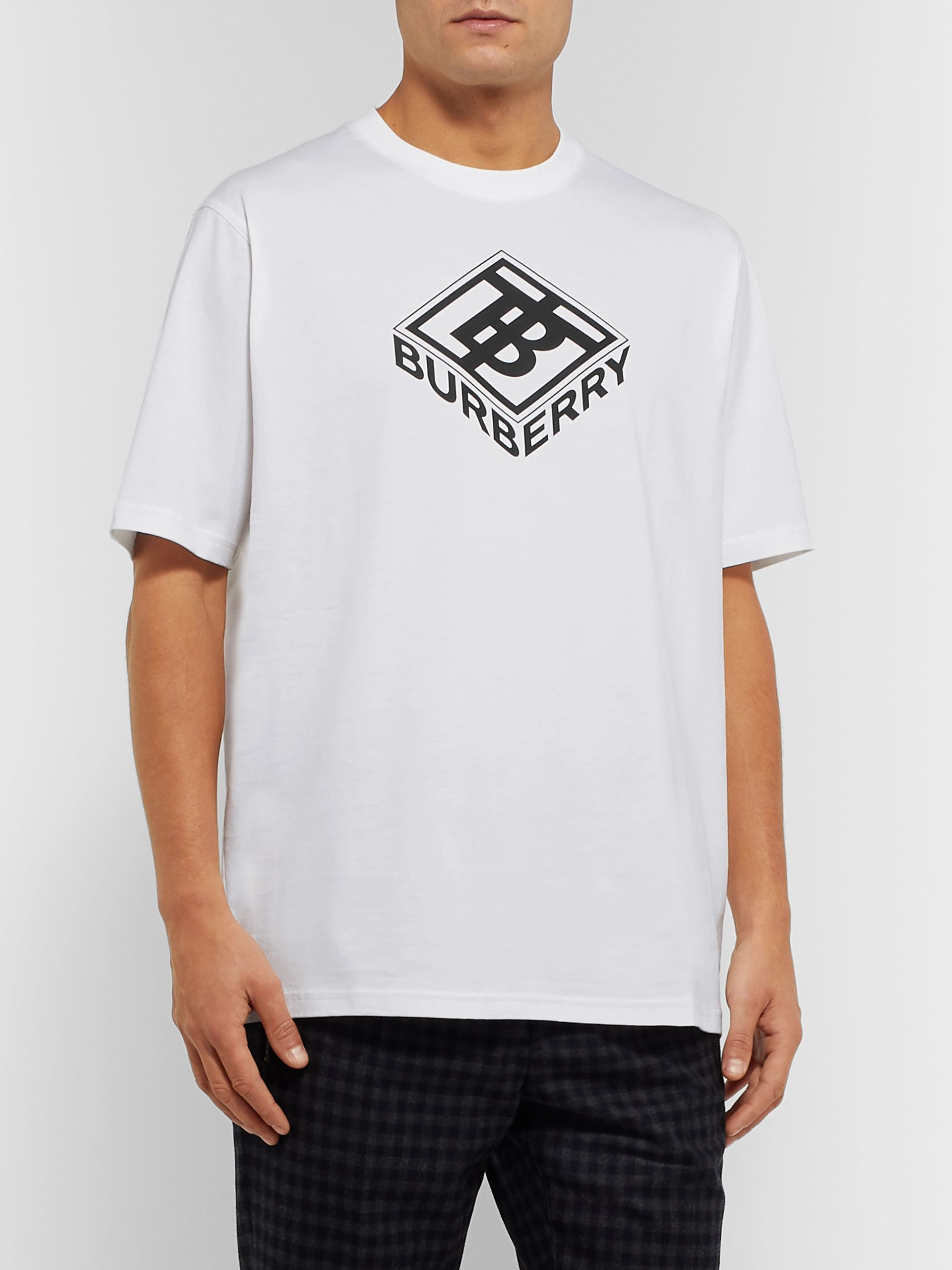 Burberry Logo-Print Cotton-Jersey T-Shirt