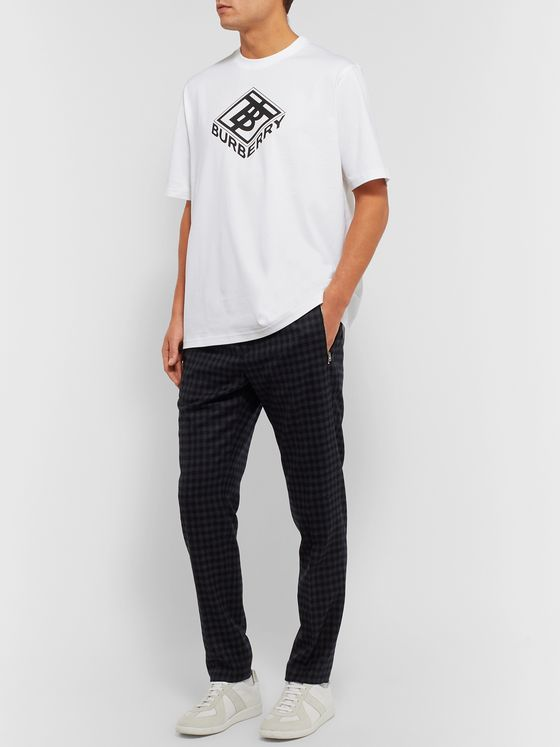 Burberry Ellison Logo-Print Cotton-Jersey T-Shirt