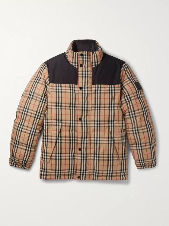 Burberry Reversible Quilted Checked Shell Down Jacket