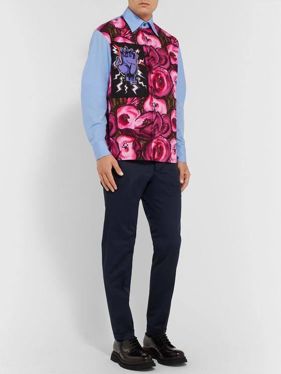 Prada + Universal Printed Cotton-Poplin Shirt