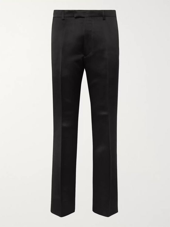Prada Black Silk-Satin Suit Trousers