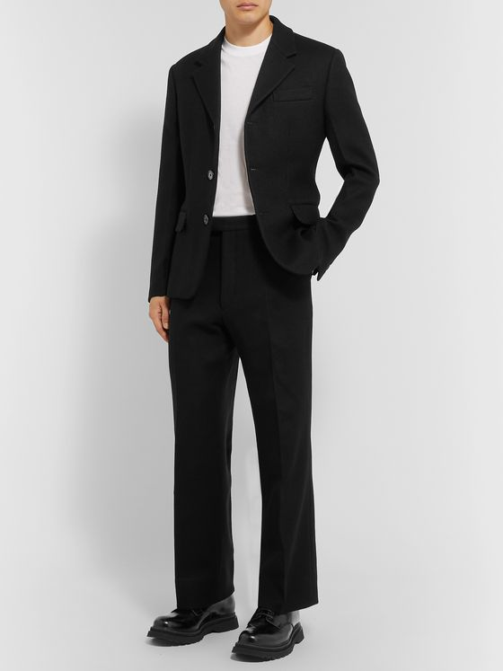 Prada Black Slim-Fit Wool Suit Jacket