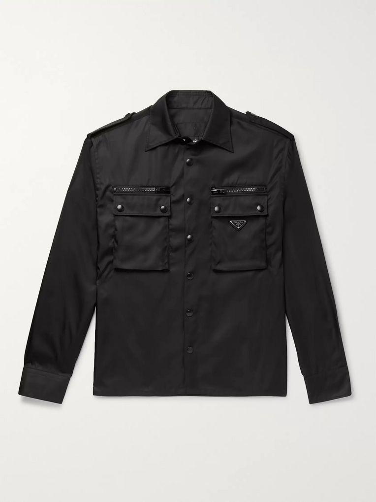938d42fd Nylon-Gabardine Overshirt