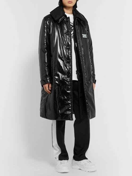 Burberry Padded Glossed-Shell Coat with Detachable Gilet