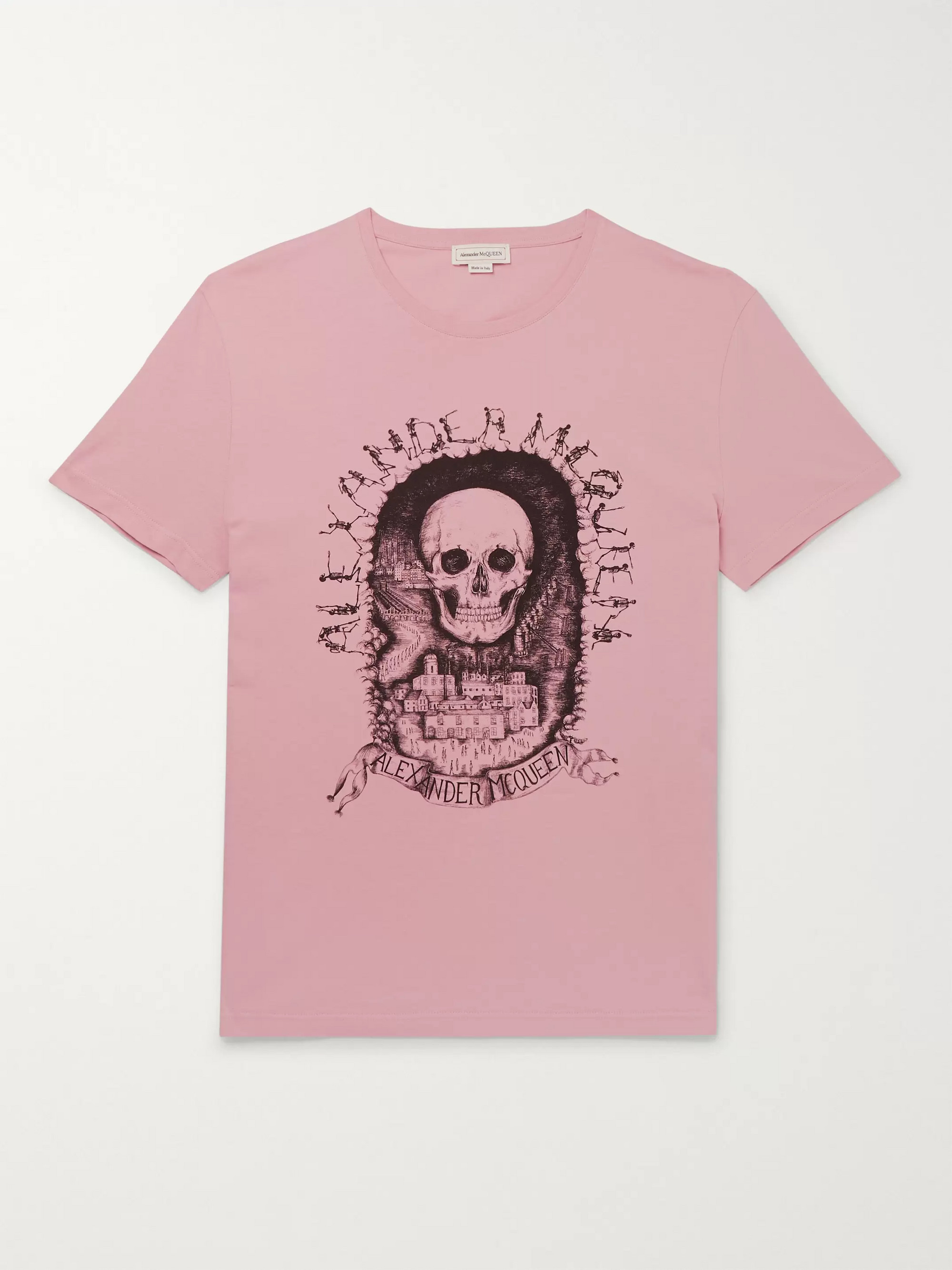 Alexander McQueen Slim-Fit Printed Organic Cotton-Jersey T-Shirt