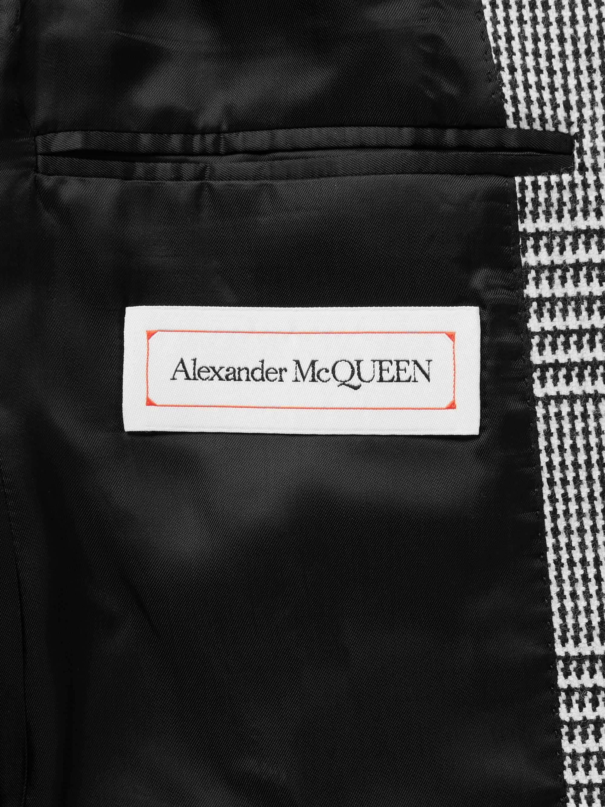 Alexander McQueen Slim-Fit Checked Virgin Wool Suit Jacket