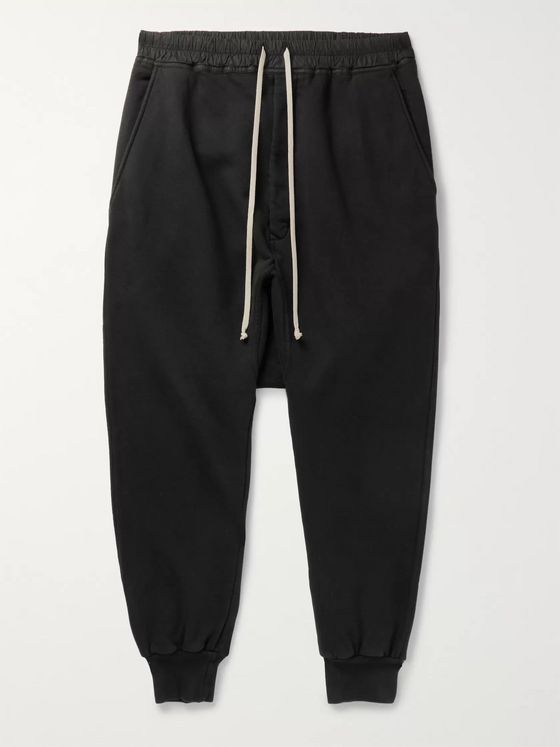 Rick Owens Prisoner Fleece-Back Cotton-Jersey Drawstring Sweatpants