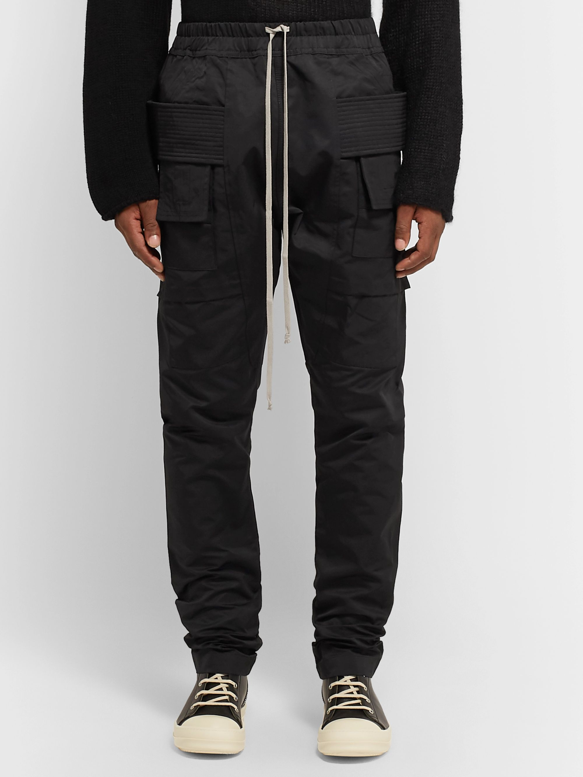 Rick Owens Slim-Fit Nylon and Cotton-Blend Faille Cargo Trousers