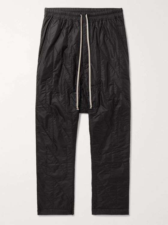 Rick Owens Quilted Nylon Drawstring Sweatpants