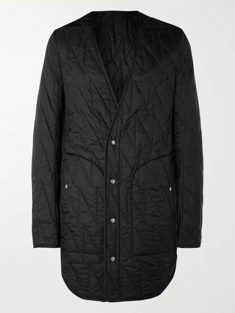 Rick Owens Quilted Shell Coat