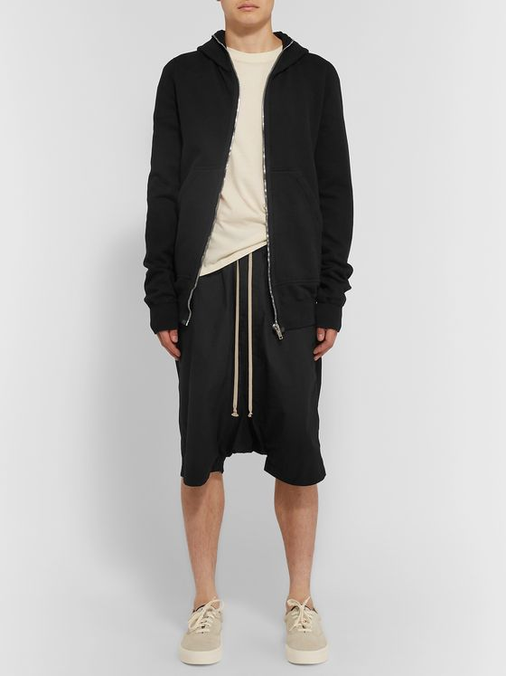 Rick Owens Pods Cotton-Poplin Drawstring Shorts