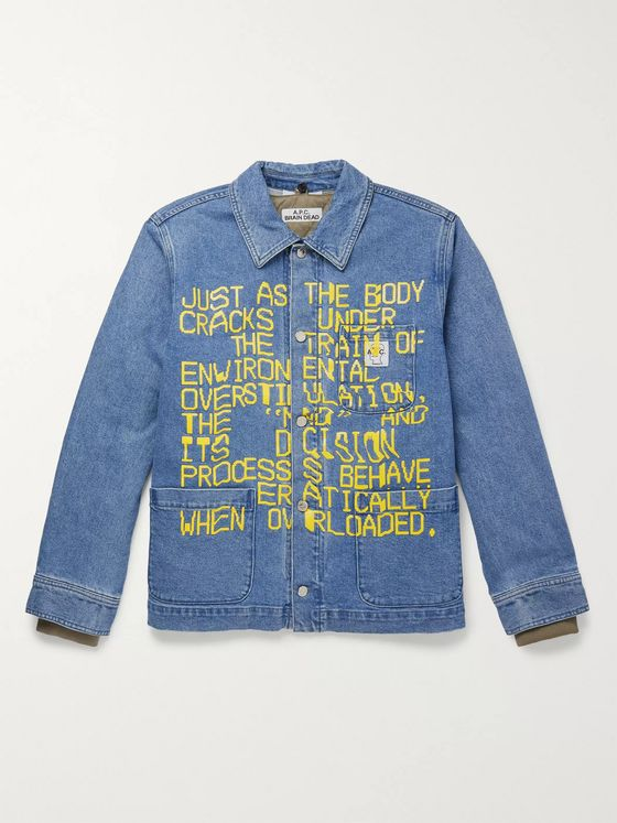 A.P.C. + Brain Dead Printed Denim Jacket