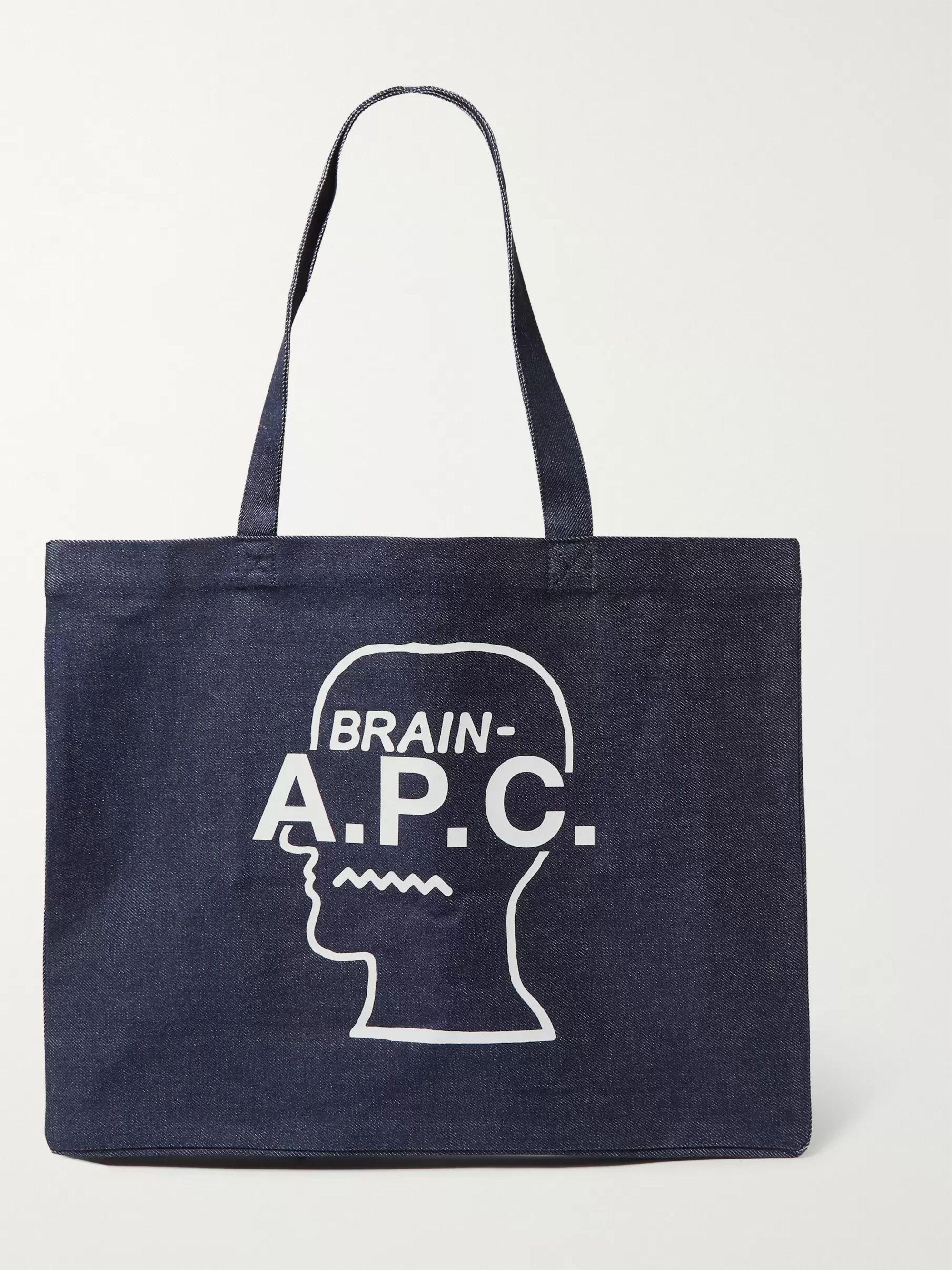 + Brain Dead Logo Print Indigo Dyed Denim Tote Bag by A.P.C.