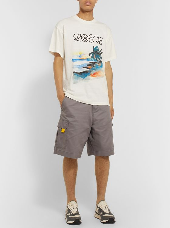 Loewe Eye/LOEWE/Nature Printed Cotton-Jersey T-Shirt