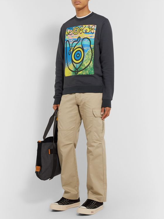 Loewe Eye/LOEWE/Nature Cotton-Twill Cargo Trousers