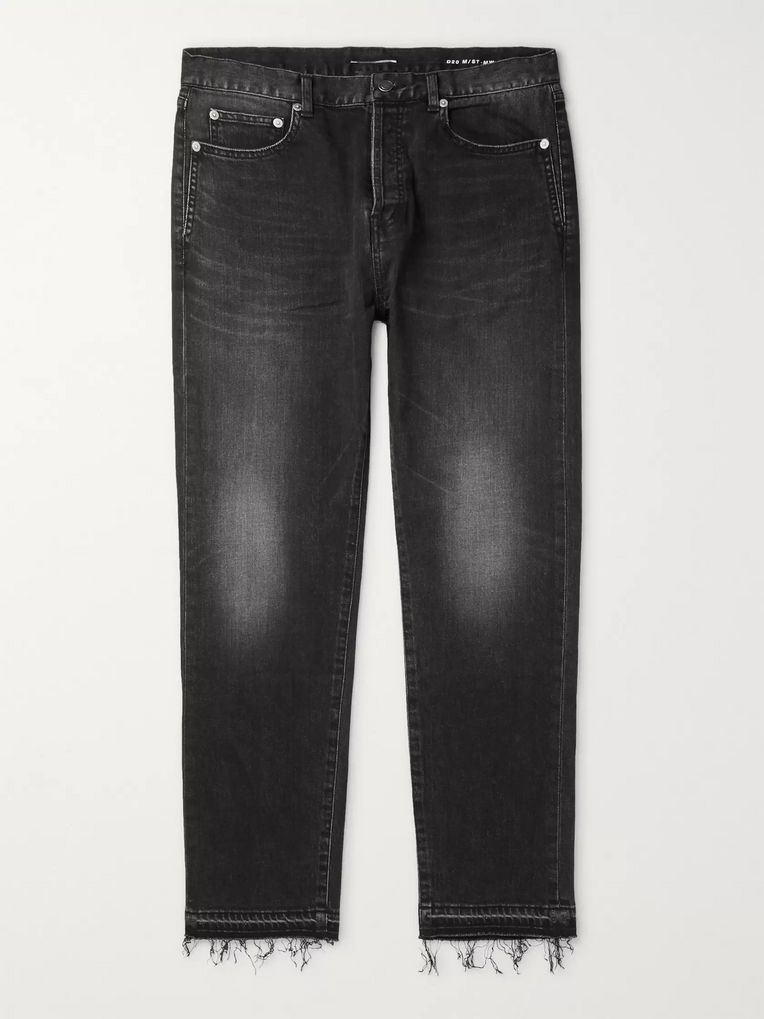 SAINT LAURENT Distressed Denim Jeans