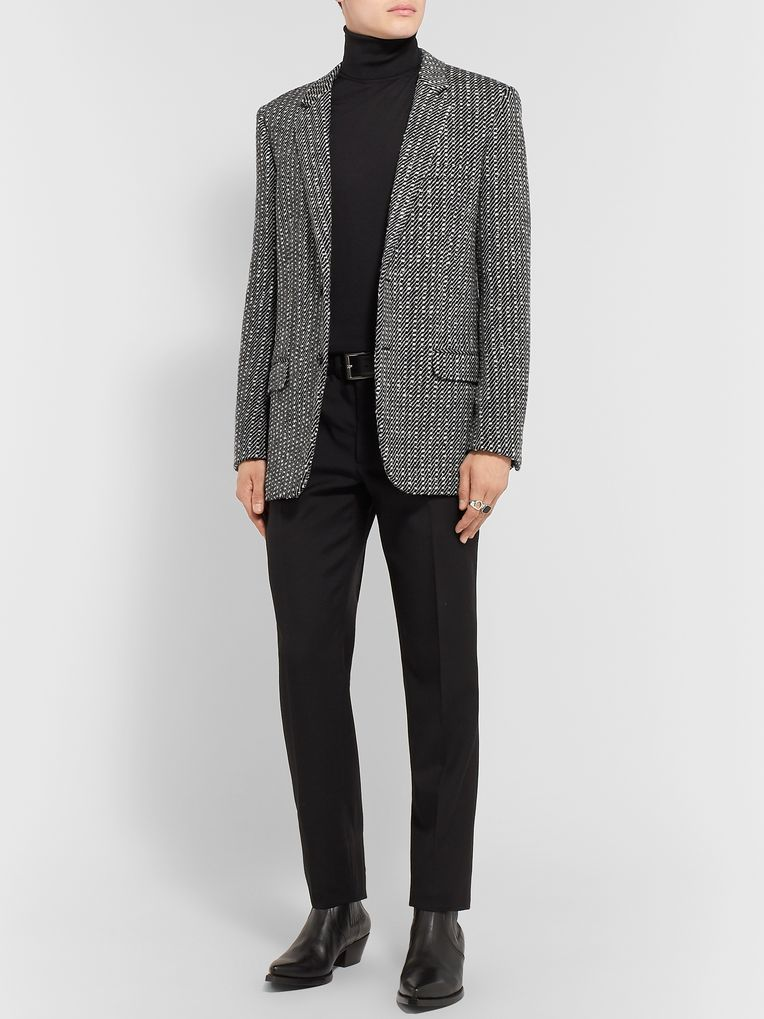 SAINT LAURENT Slim-Fit Bouclé Wool Blazer