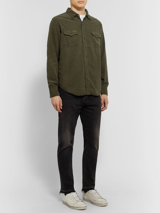 SAINT LAURENT Slim-Fit Cotton-Corduroy Western Shirt