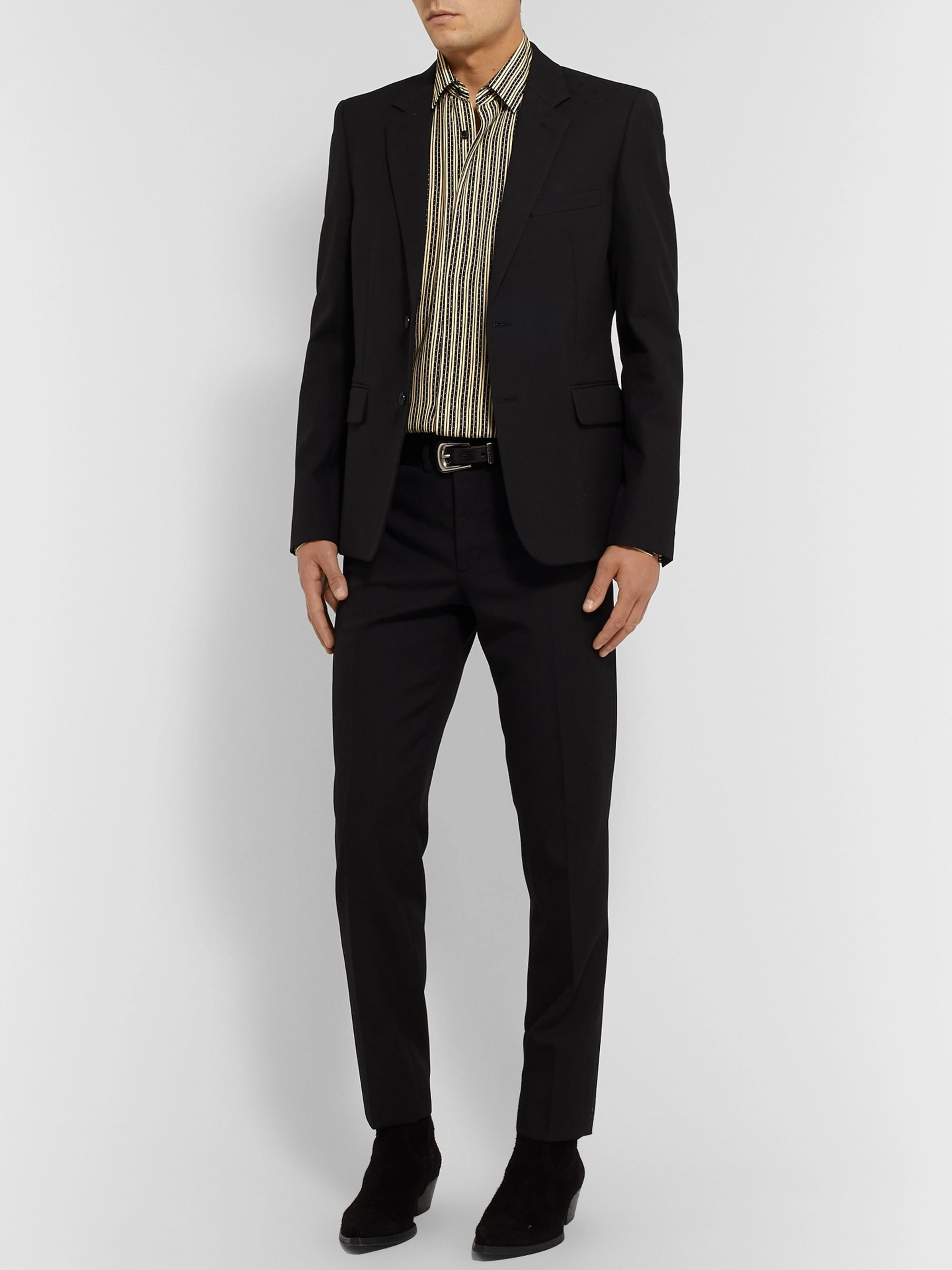 SAINT LAURENT Striped Voile Shirt