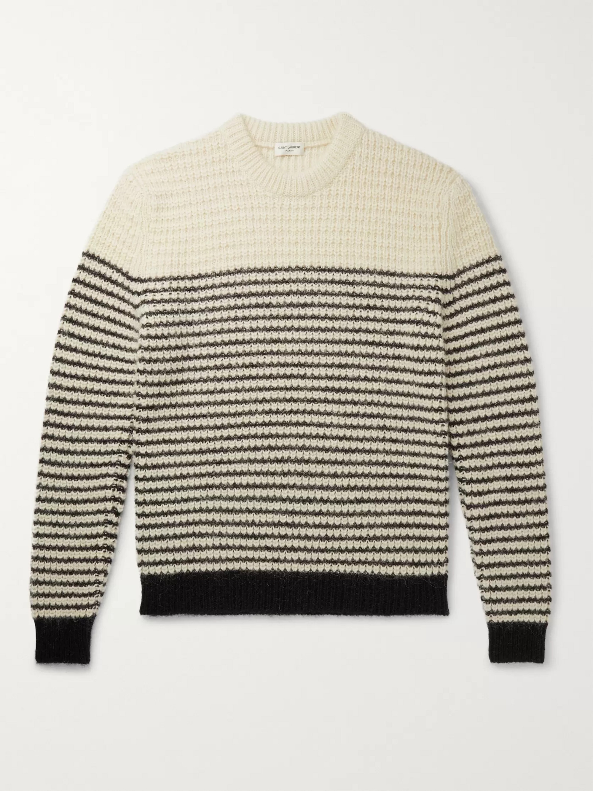 SAINT LAURENT Slim-Fit Striped Knitted Sweater